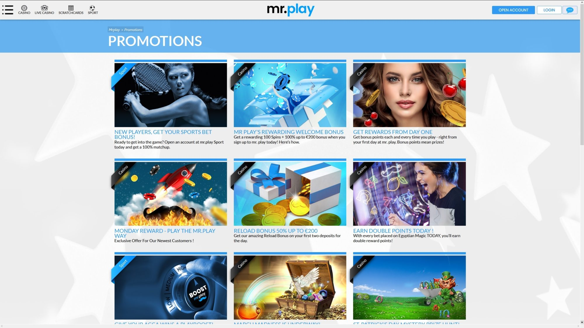 See all Mr. Play Casinos Promotions