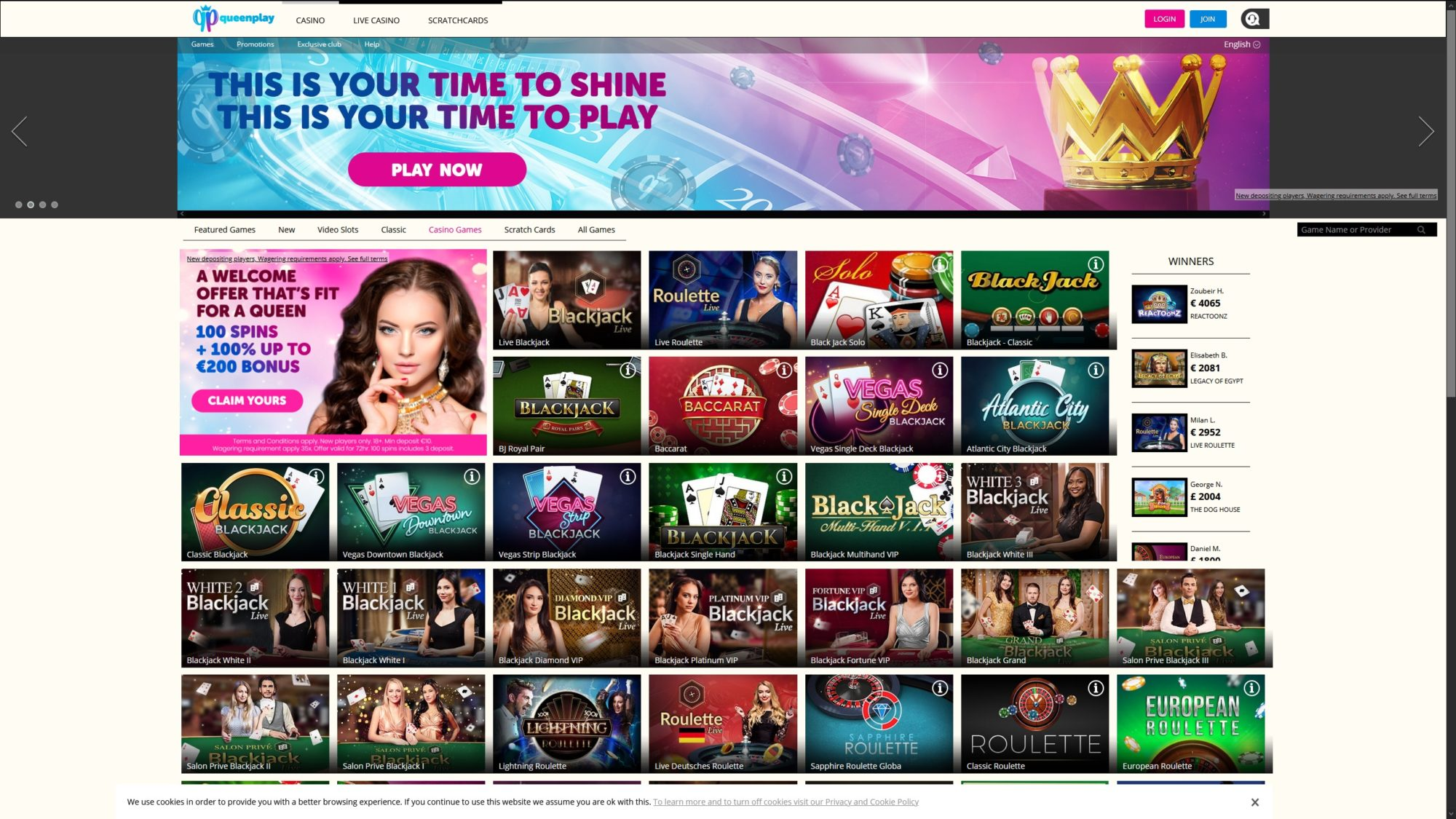Queen Play Casino - Try Casino Games
