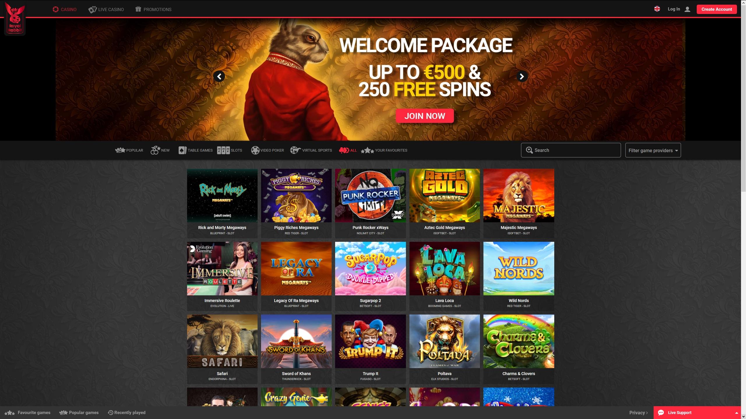 Check Out Royal Rabbit Casino