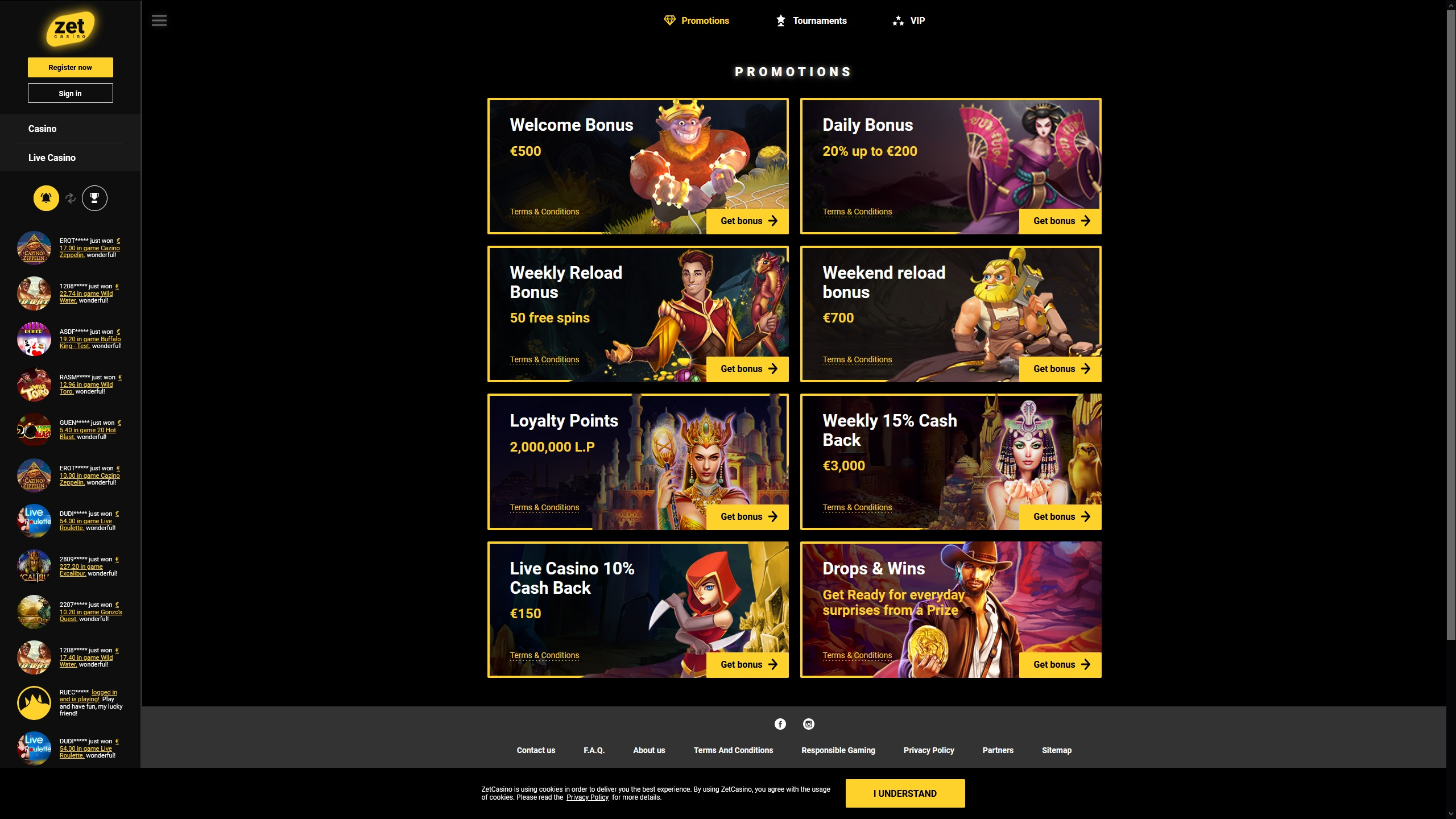 Zet Casino Offers Many Special Promotions
