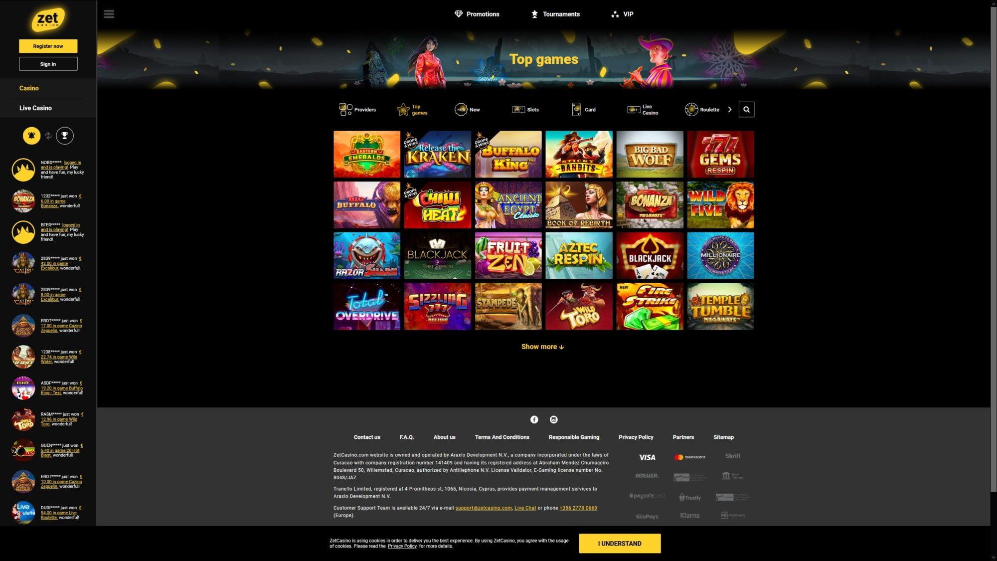 Try Zet Casinos Topgames